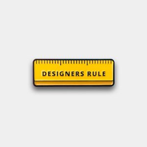 Designers Rule Enamel Pin
