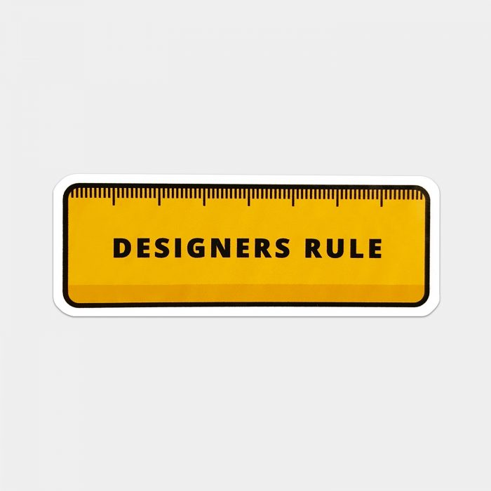 Designers Rule Sticker