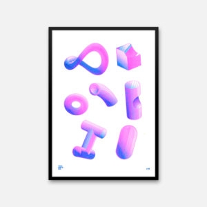 2x3 Ultraviolet - A3 Riso Print