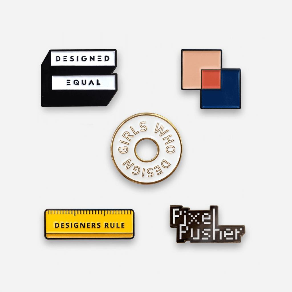 Set of 5 Design Pins